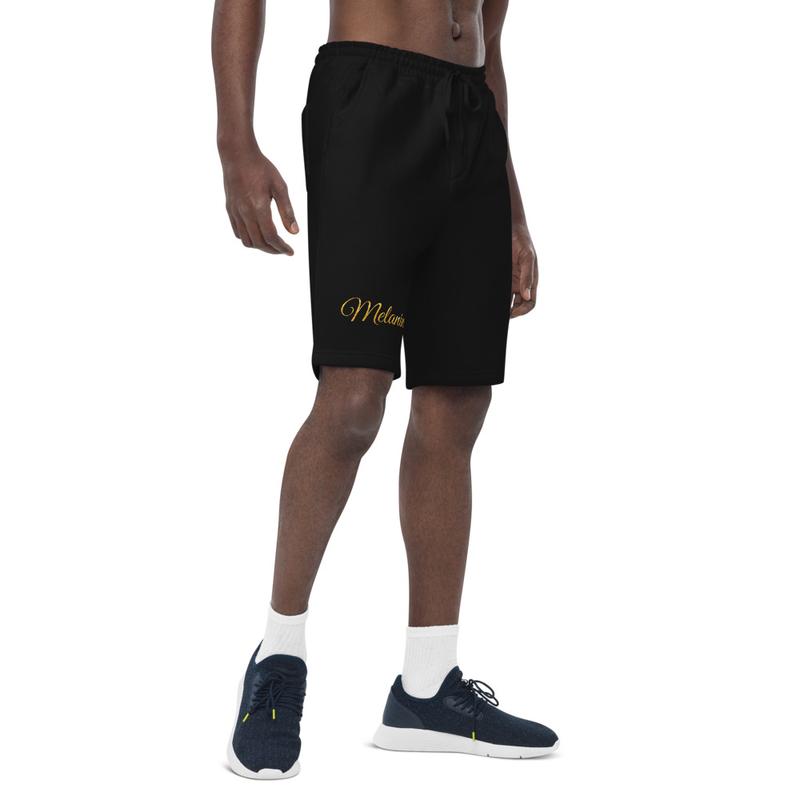 Melanin Men's fleece shorts