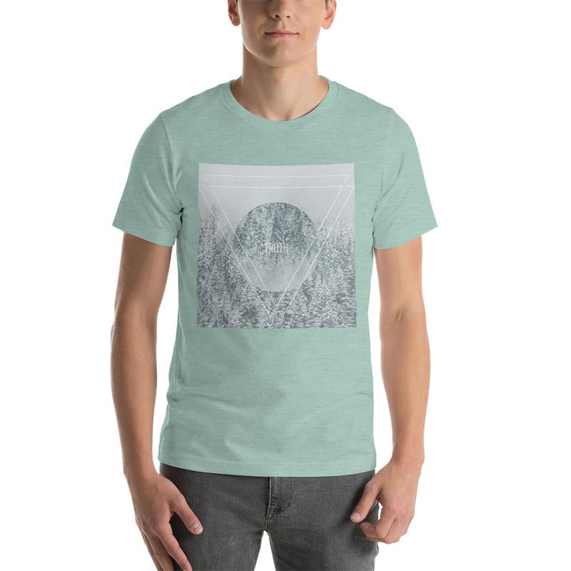 Truth Lofi Hip Hop Vibes Melancholy T-Shirt, Geometric Snow Forest