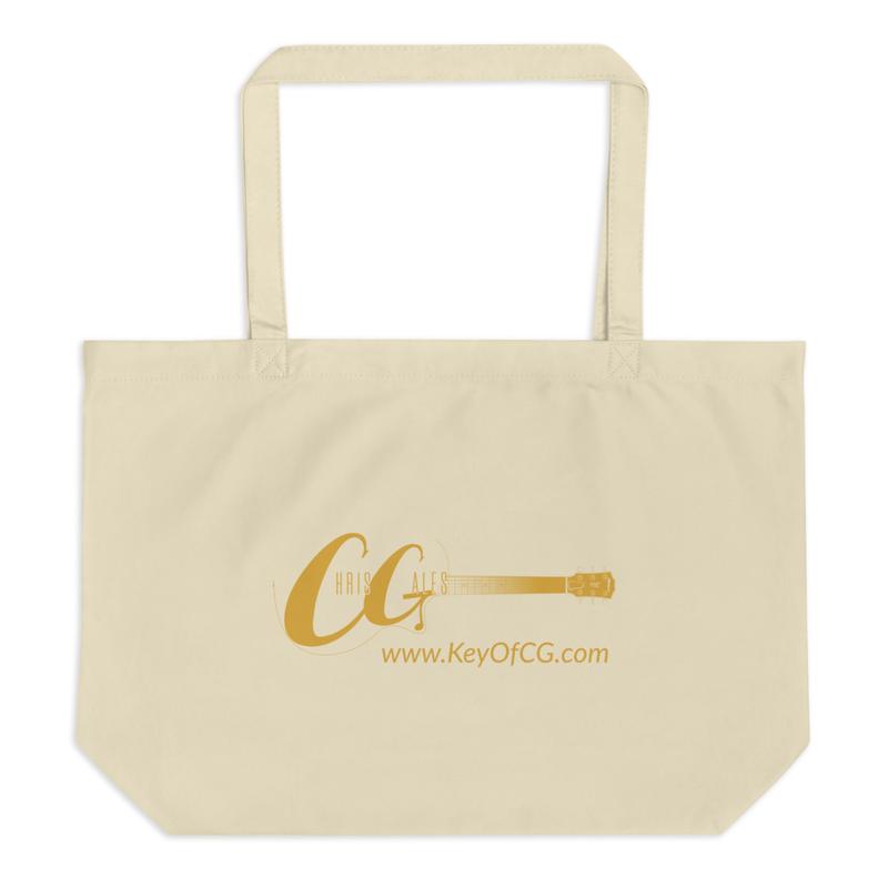 Chris Gales Gold Logo Large OrganicTote Bag