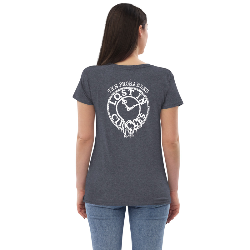Lost in Circles Women's Recycled V-neck T-shirt