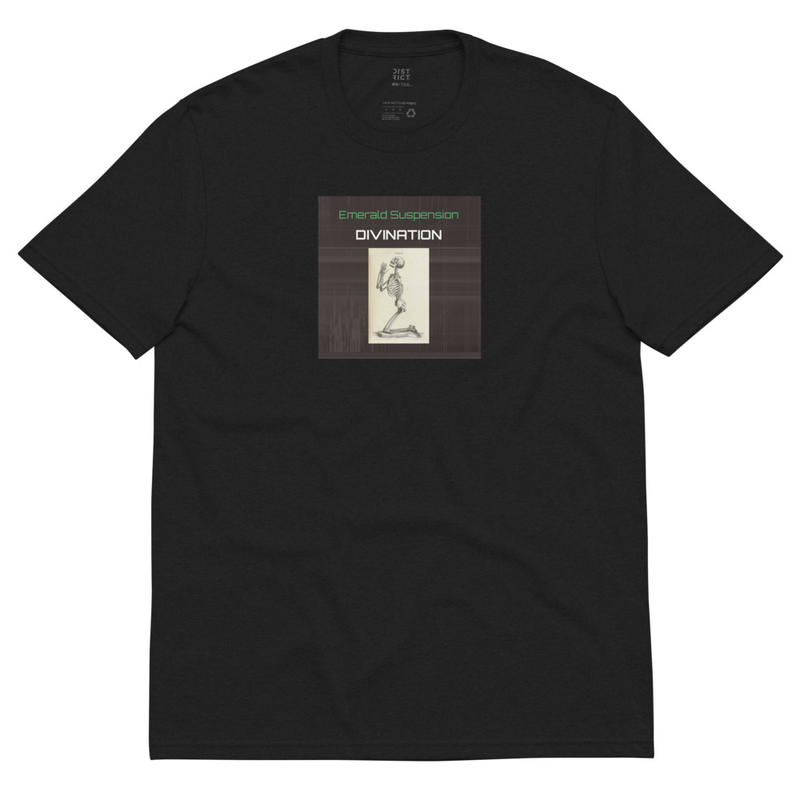 Recycled t-shirt with Divination album cover