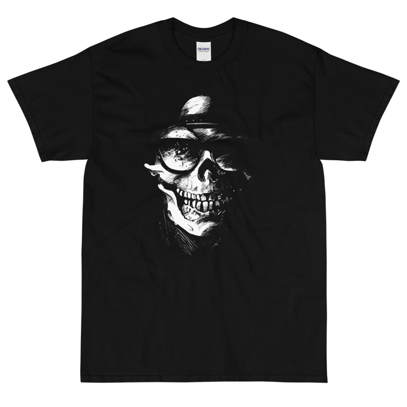 Magnavolt Black T-Shirt with Skullface