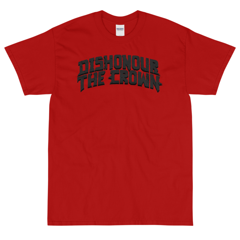 Dishonour The Crown logo T - Red/Grey