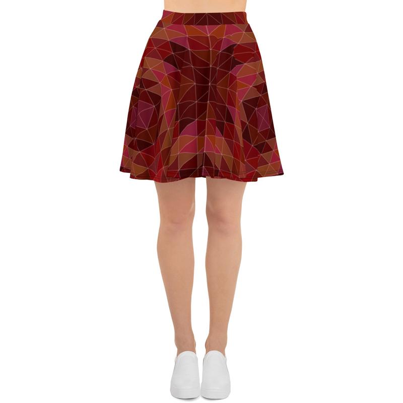 AHoney Maroon Moments Skater Skirt