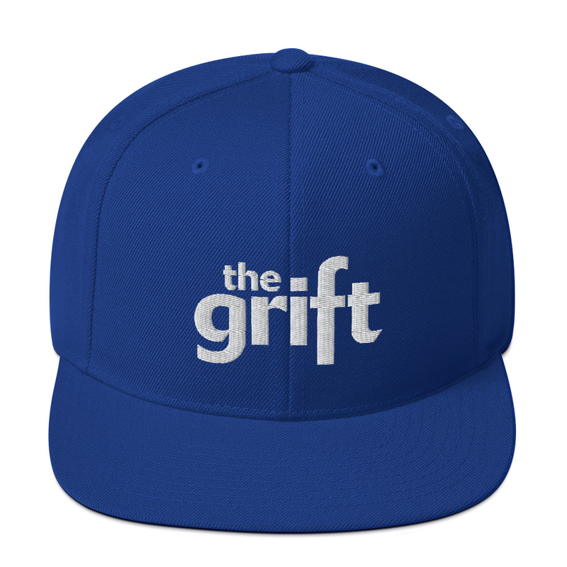 Embroidered Snapback Hat - Classic Logo