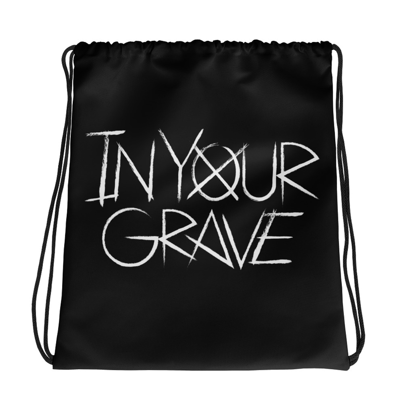 In Your Grave Drawstring bag