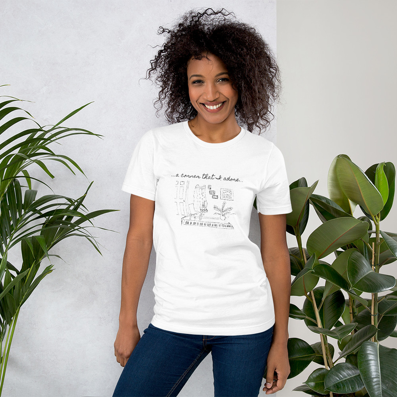 "Short-Sleeve ""Corner that I Adore"" Unisex T-Shirt"