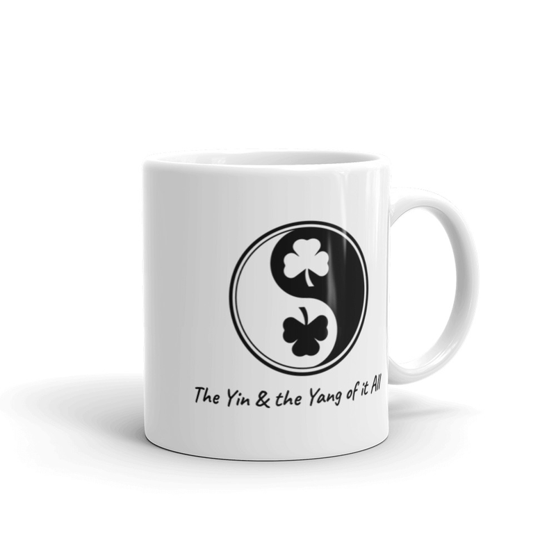 White glossy mug - The Yin & the Yang of it All