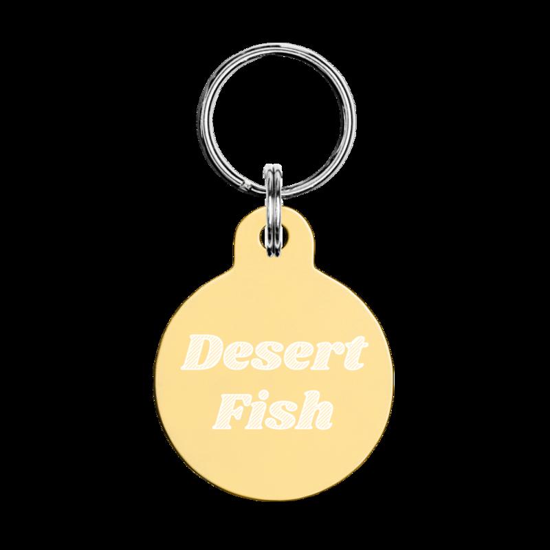 Desert Fish Engraved Pet ID Tag