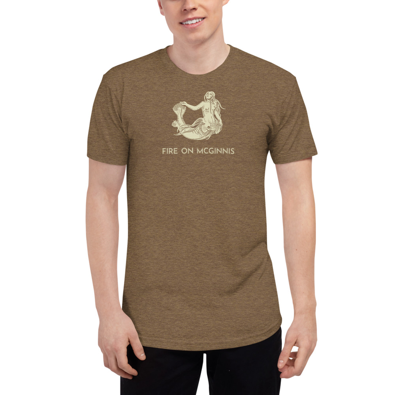 Fire on McGinnis Selkie Unisex Tri-Blend Track Shirt
