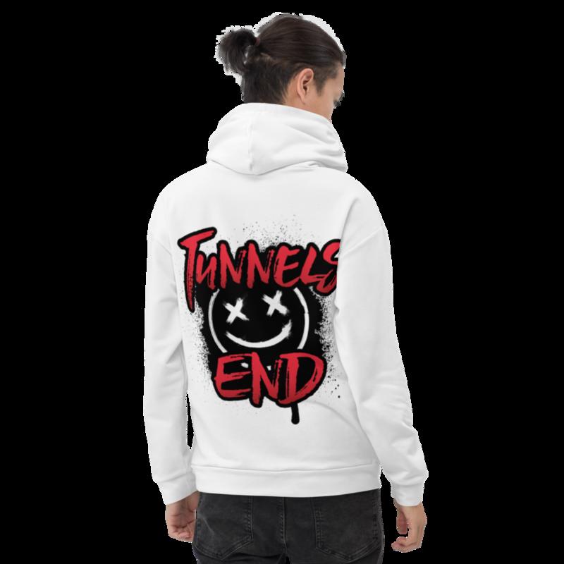 """Tunnels End """"Skater"""" Unisex Hoodie Color Logo Option"""