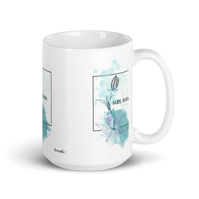breathe Cover Art White glossy mug