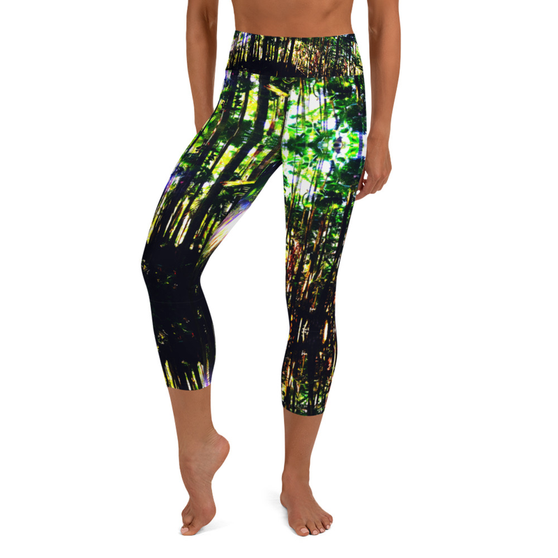 Hilo Jungle Women's Yoga Capri Leggings