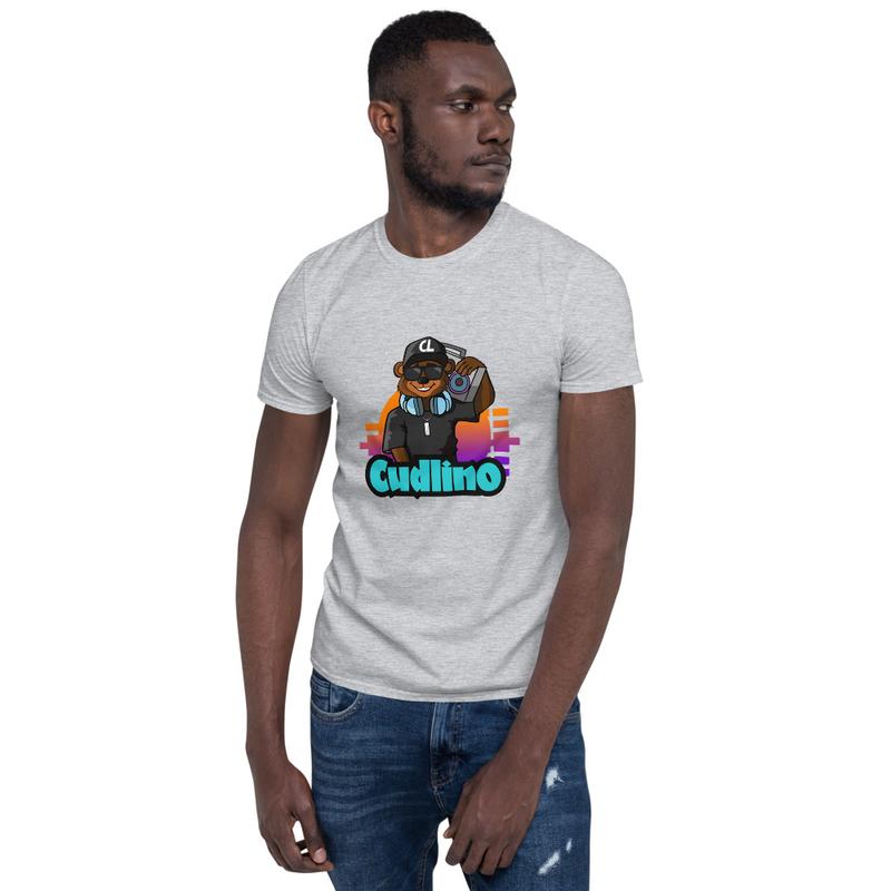 Cudlino Music On Blast Logo - Short-Sleeve Unisex T-Shirt