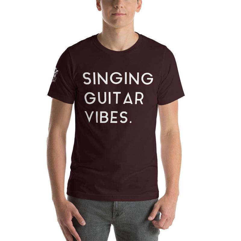 Short-Sleeve Unisex Singing Guitar Vibes T-Shirt