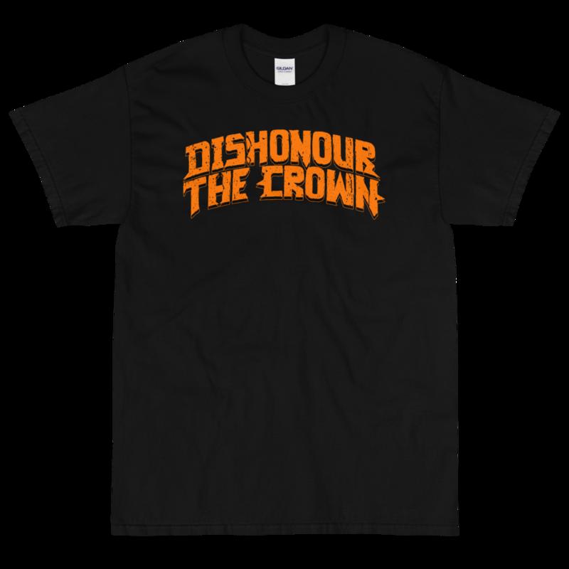 Dishonour The Crown logo T - Black/Orange