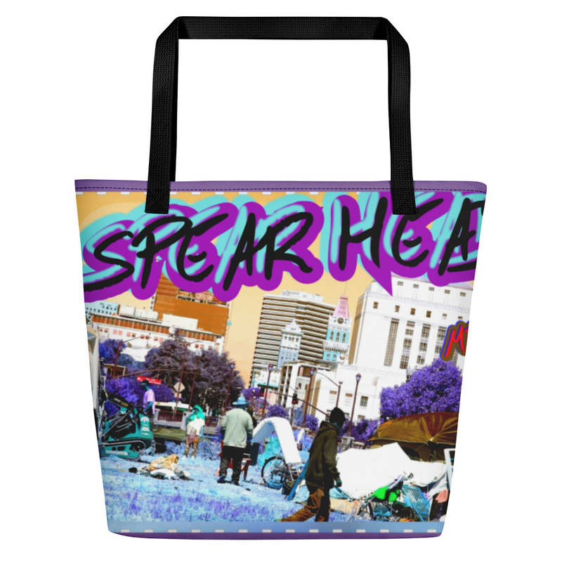 Oversized Tote Bag- SPEAR HEAD