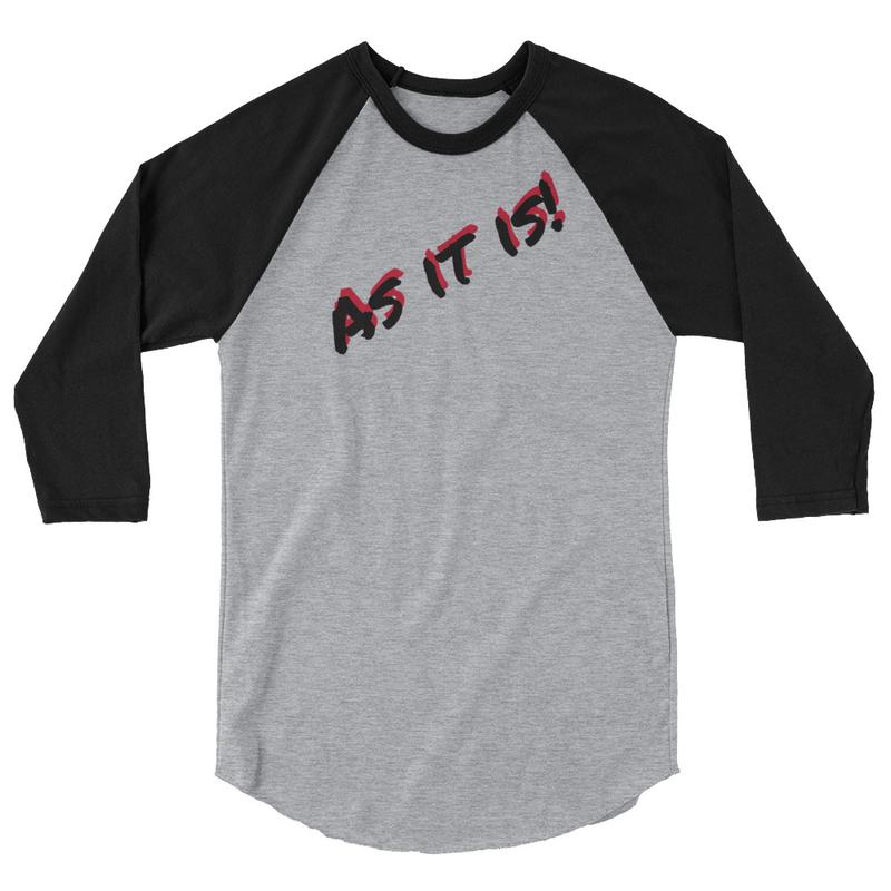 As it is! - 3/4 sleeve raglan shirt
