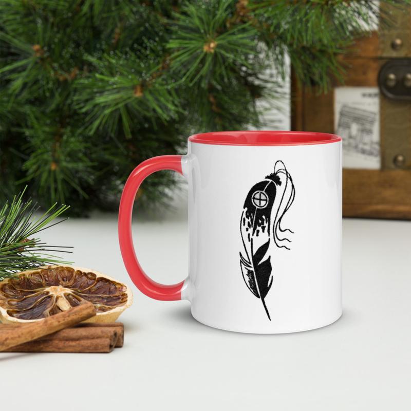 Eagle Feather - Mug with Color Inside