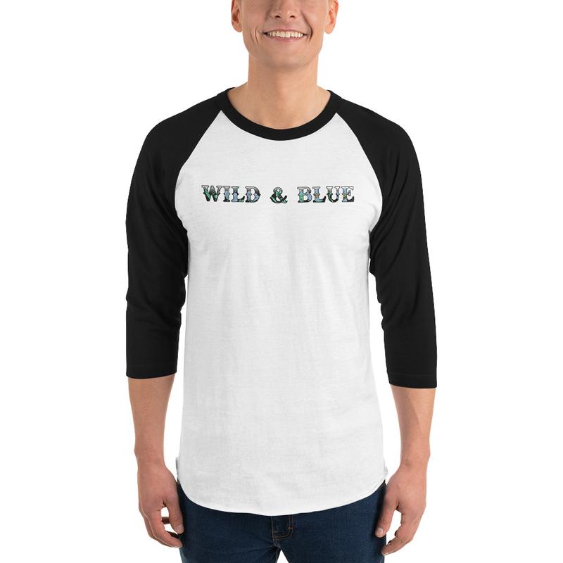 Wild & Blue - Floral Baseball Tee