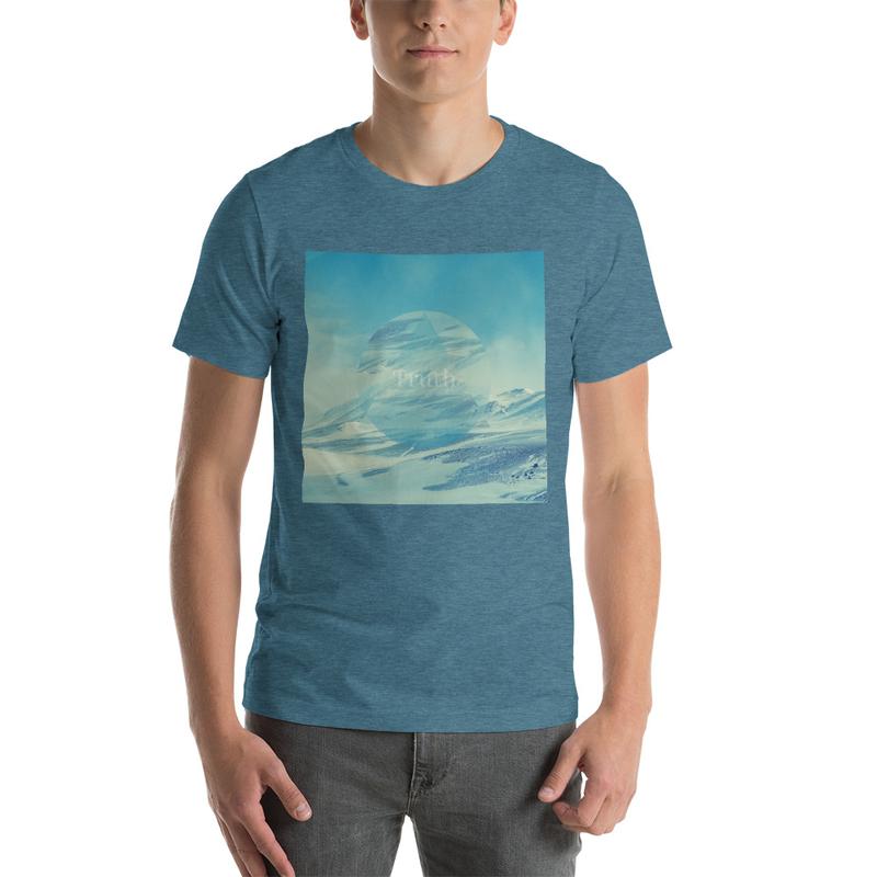Truth Music Lofi Hip Hop Vibes T-Shirt, Geometric Snowy Mountain