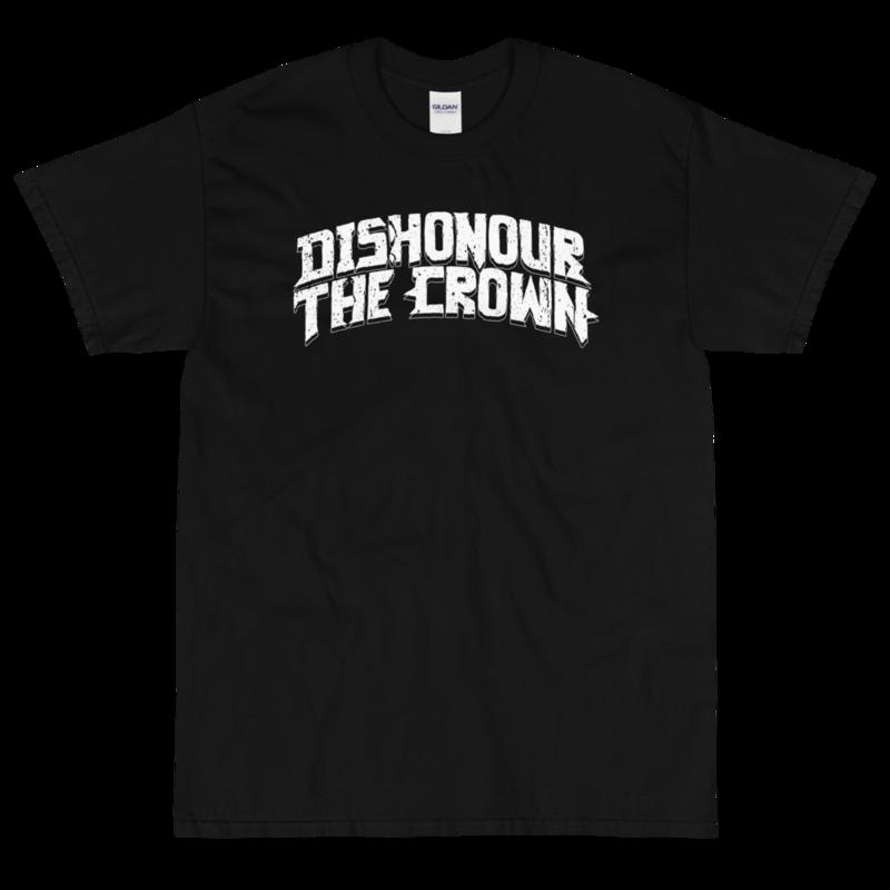 Dishonour The Crown logo T - Black