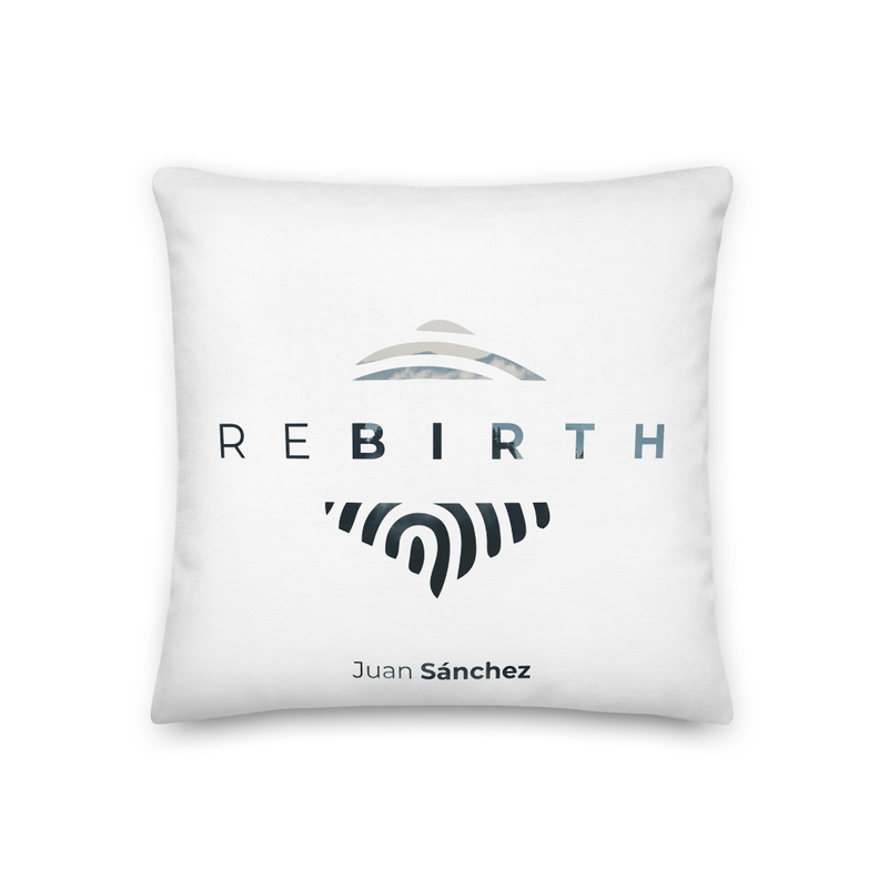 "Juan Sánchez ""Rebirth"" Album Pillow (White)"