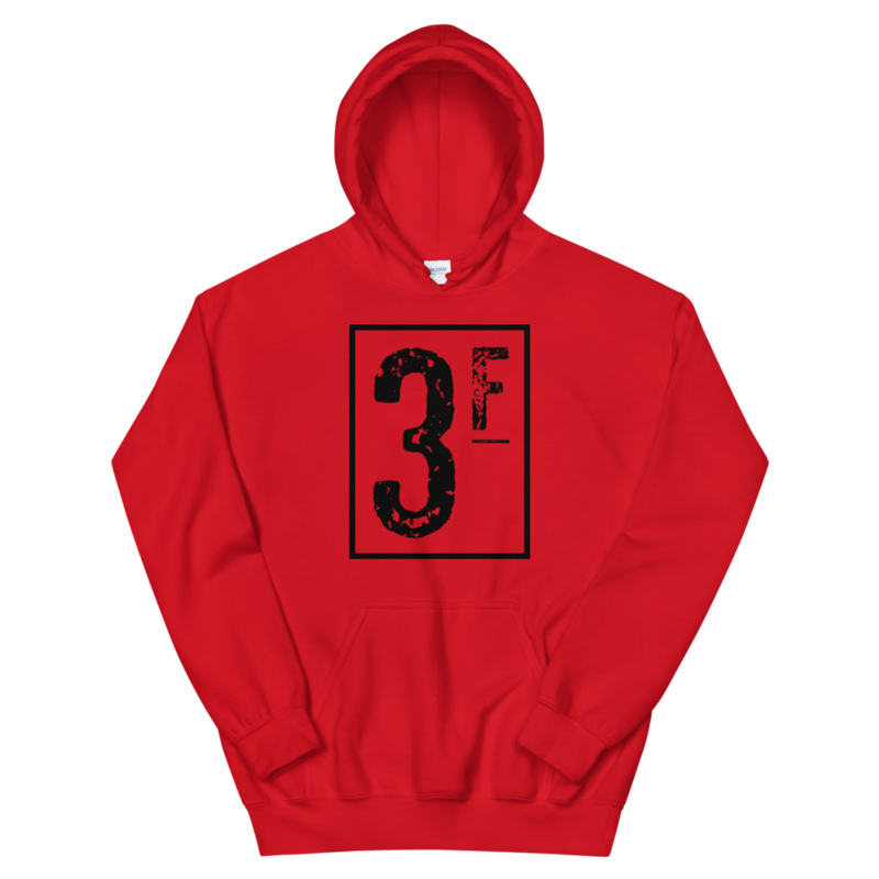 3Faces Hoodie | Black Logo