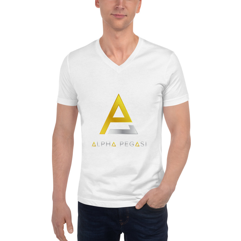 Alpha Unisex V-Neck T-Shirt