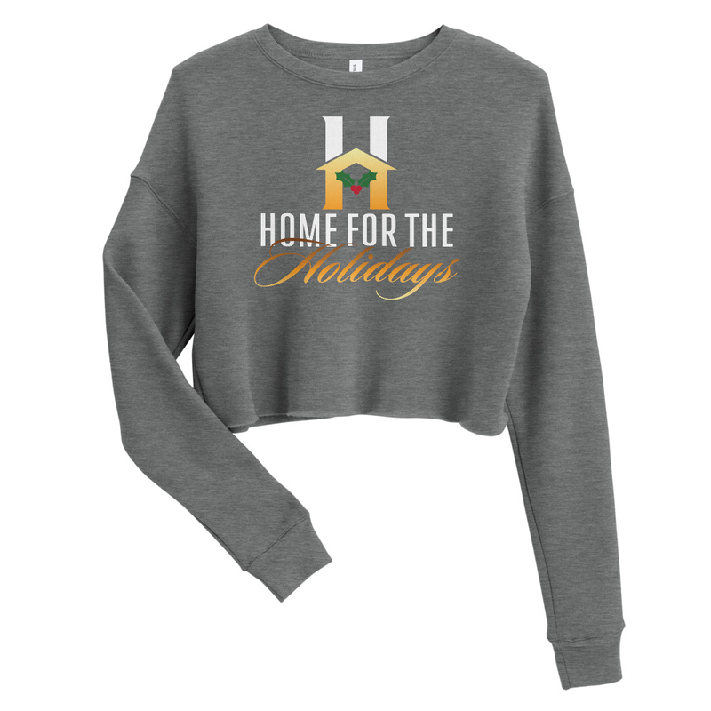 """Crop Sweatshirt """"Home for the Holidays"""""""