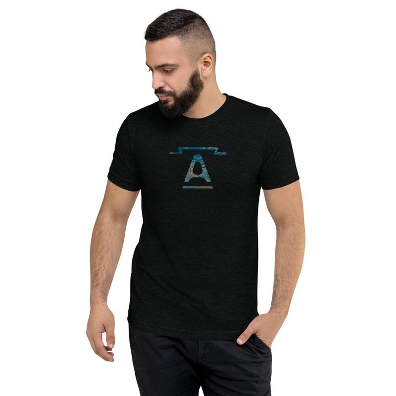 """""""A"""" logo - short sleeve tri-blend t-shirt"""