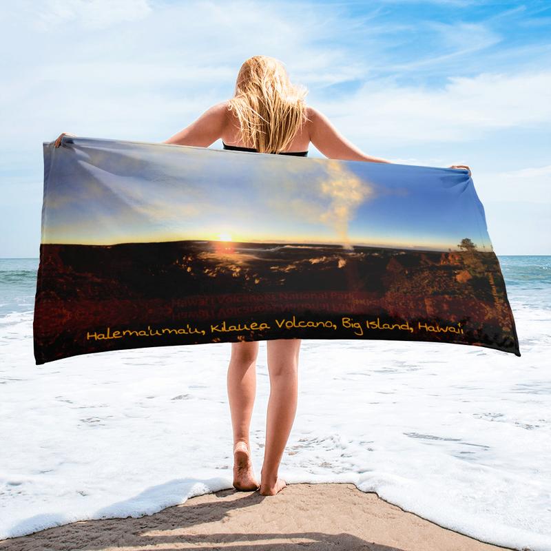 Halema'uma'u Crater - Kilauea Volcano - Beach Towel