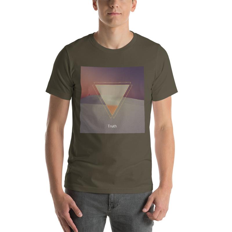 Truth Music Lofi Hip Hop Vibes T-Shirt, Geometric Night Desert