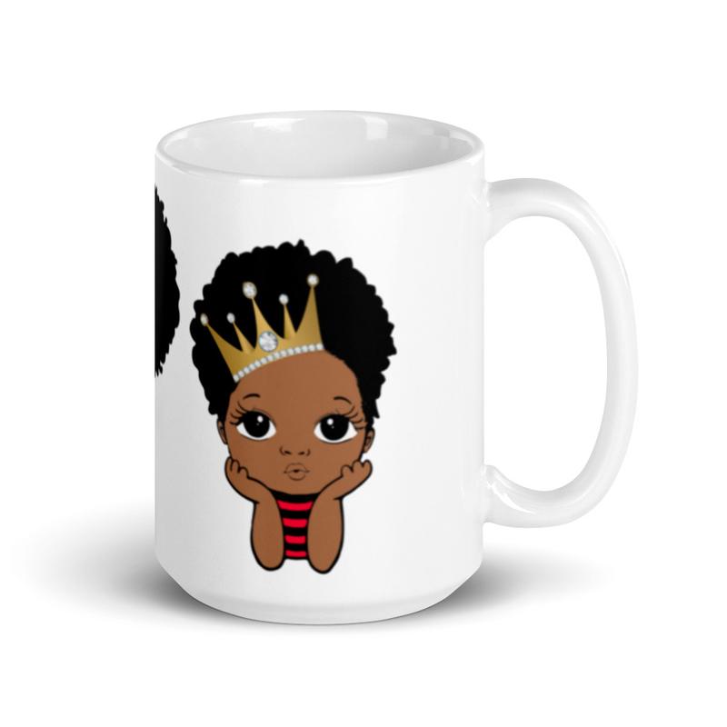 Princess & Prince Melanin White Glossy Mug