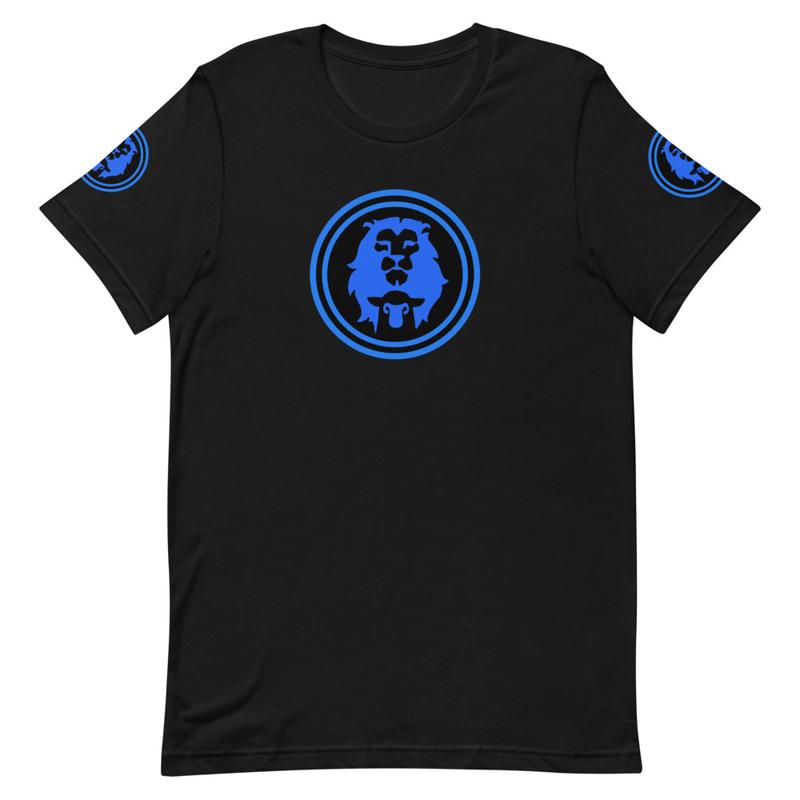 Lion & Lamb (Royal Blue edition) Unisex T-Shirt