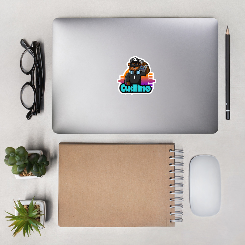 Cudlino Music On Blast Logo - Bubble-free stickers