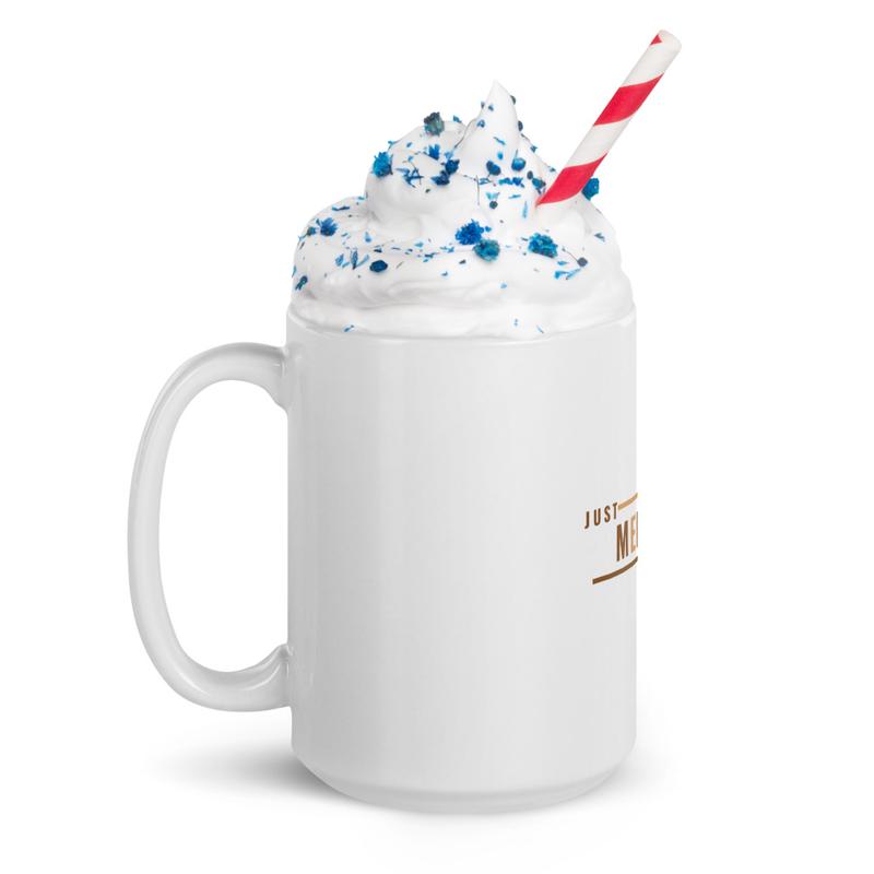 Just Melanin PERIOD White Glossy Mug