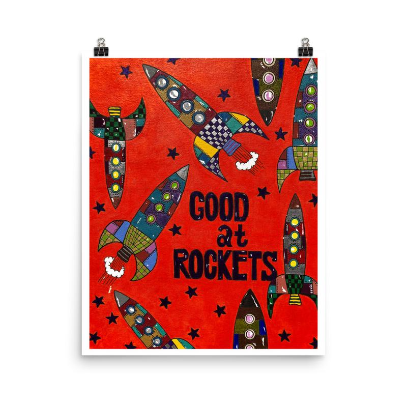 Good at Rocket - Rojo Poster