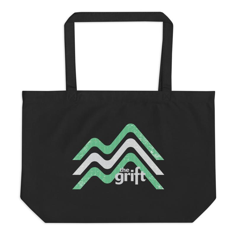 Large Organic Tote Bag - Mountain Logo