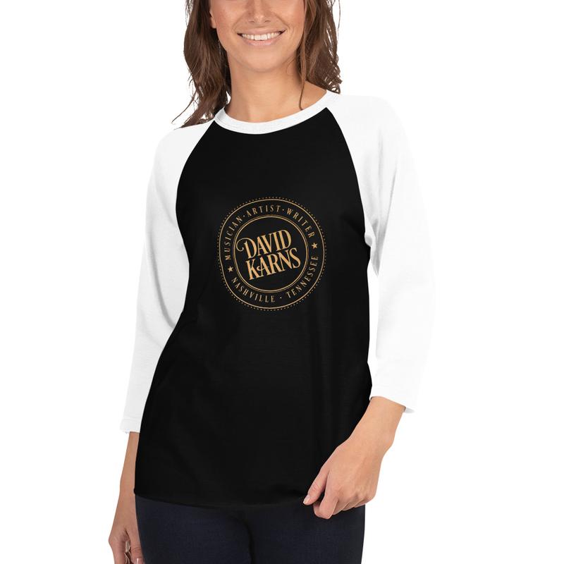 3/4 sleeve shirt - Gold Logo