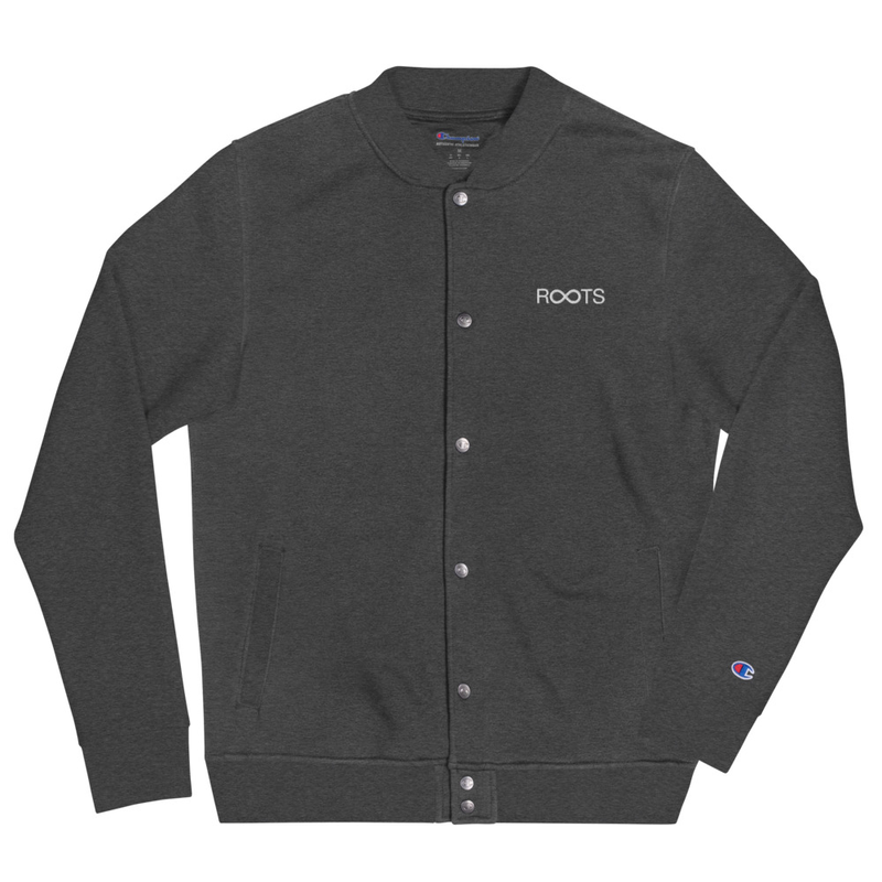 Roots Are Forever Embroidered Bomber Jacket