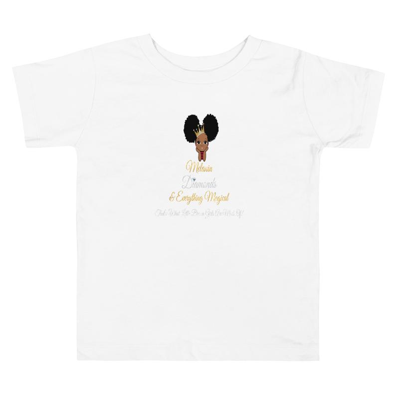 Princess Melanin Affirmation Toddler Short Sleeve Tee
