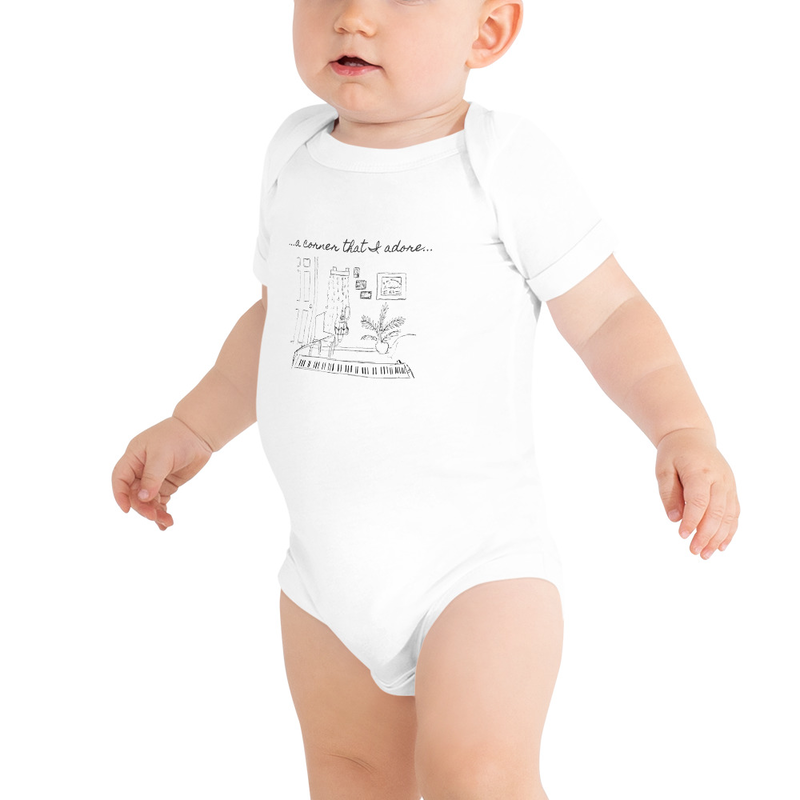 """Baby short sleeve """"Corner that I Adore"""" one piece"""