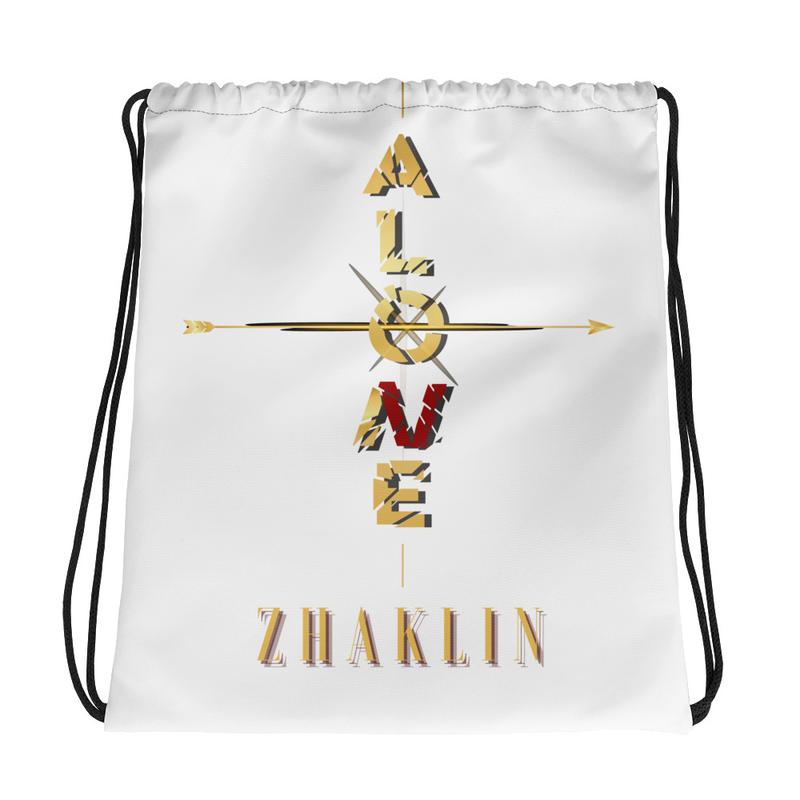 """ALONE"" logo Drawstring bag"