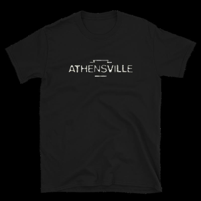 """""""ATHENSVILLE"""" logo - unisex short-sleeve t-shirt"""