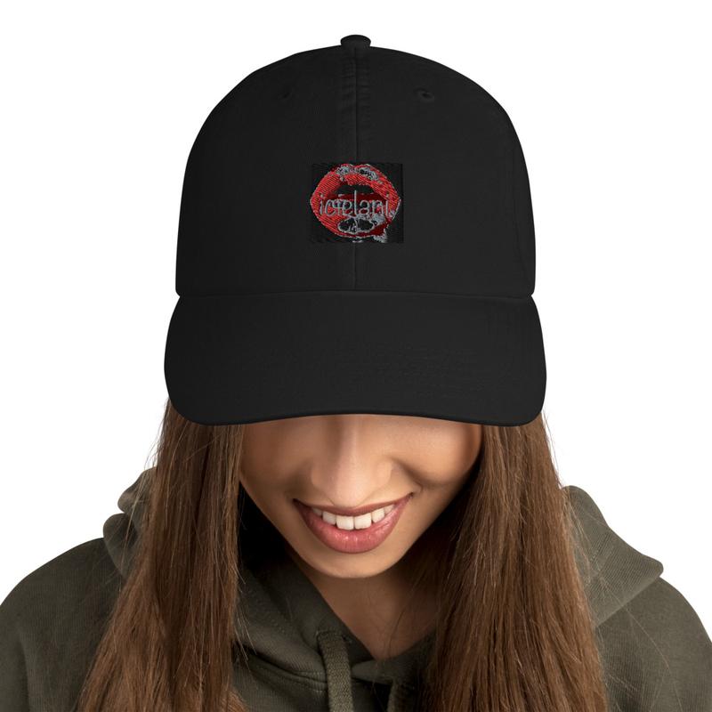 Champion x Icielani lipstick stain kiss front logo cap