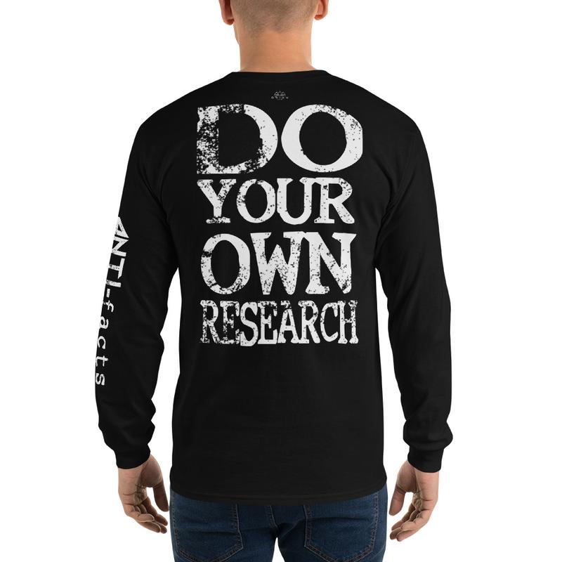 Anti-facts Research Men's Long Sleeve Shirt