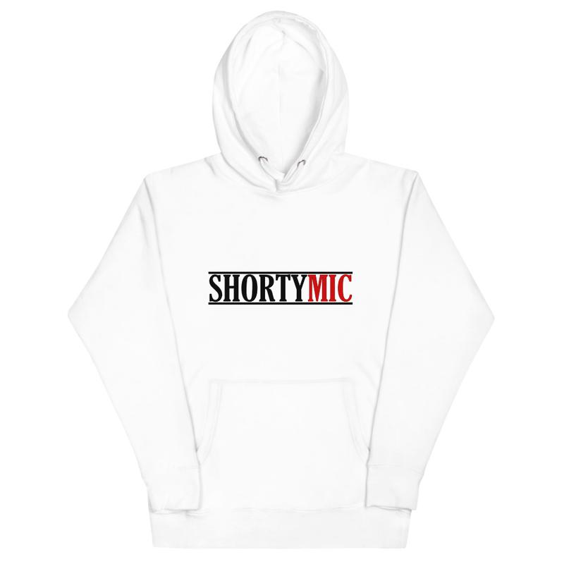 Shorty Mic, Unisex Hoodie, White