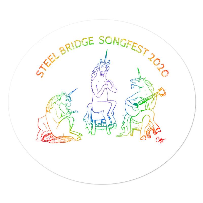 SBSF 2020 Carleycorns Pride Rainbow Large Sticker