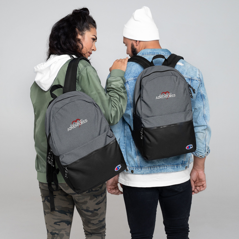 All Heart Adventure Embroidered Champion Backpack